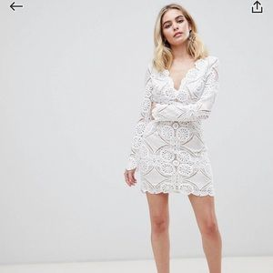 ASOS Dresses - V Cut Lace Mini Dress